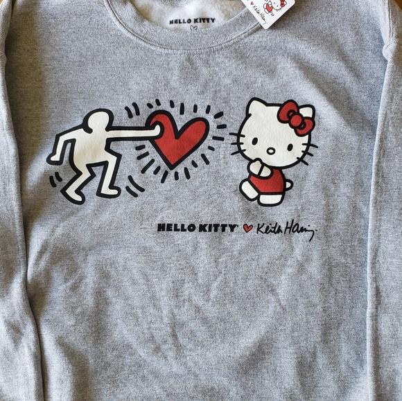 07a4ac94a Hello Kitty Shirts | X Keith Haring Crew Neck Sweatshirt | Poshmark